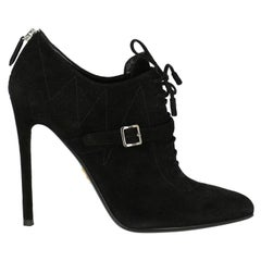 Prada  Women   Ankle boots  Black Leather EU 37.5