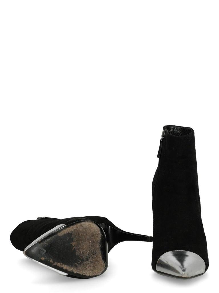 Women's Prada  Women   Ankle boots  Black Leather EU 38.5 For Sale