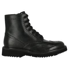Prada  Women   Ankle boots  Black Leather EU 40.5