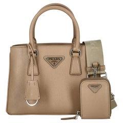 Prada  Women   Handbags  Beige Leather