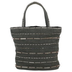 Prada Women  Handbags  Grey Cotton