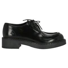 Prada  Women   Lace-up  Black Leather EU 37.5