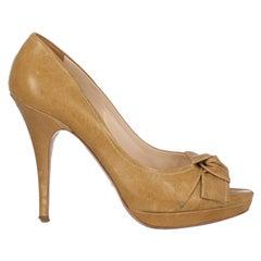 Prada Women  Pumps Beige Leather IT 39
