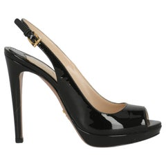 Prada Women  Pumps Black Leather IT 37