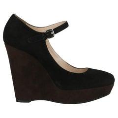 Prada Women  Pumps Black Leather IT 38