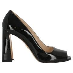 Prada Women  Pumps Black Leather IT 39