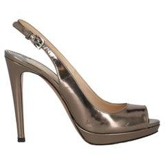 Prada  Women   Pumps  Bronze Leather EU 38