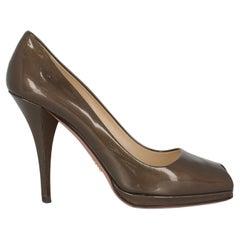 Prada Women  Pumps Brown Leather IT 37.5
