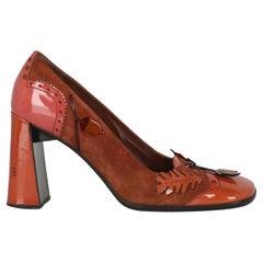 Prada Women  Pumps Brown Leather IT 38.5