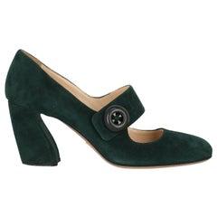 Prada Women  Pumps Green Leather IT 39