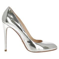 Prada  Women   Pumps  Silver Leather EU 40