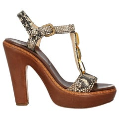 Prada Women  Sandals Beige Leather IT 37