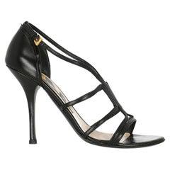 Prada  Women   Sandals  Black Leather EU 39.5