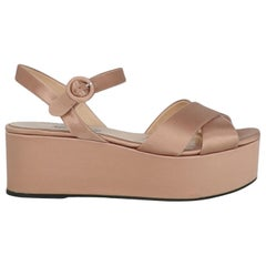 Prada  Women   Sandals  Pink Fabric EU 38.5