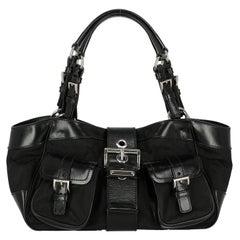 Prada  Women   Shoulder bags  Black Synthetic Fibers
