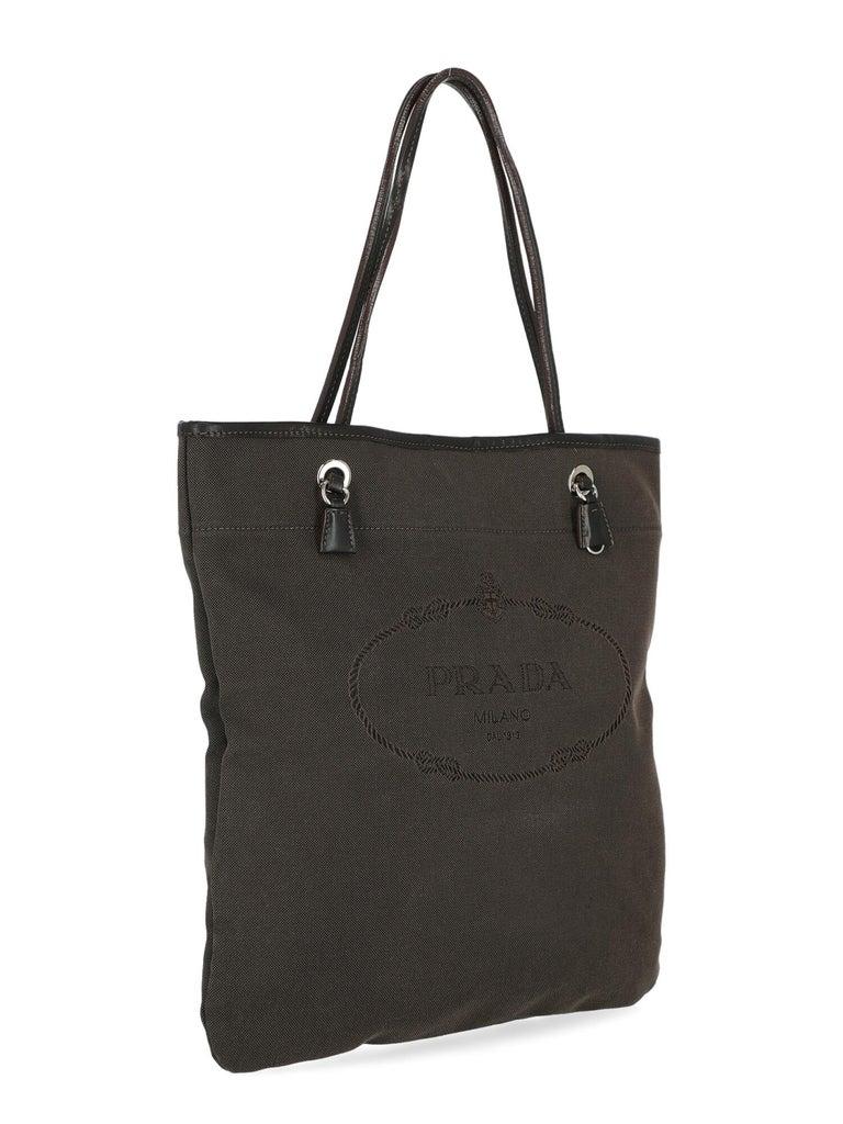 Black Prada  Women   Shoulder bags   Brown Cotton  For Sale