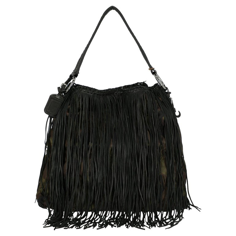 Prada  Women   Shoulder bags   Brown, Green Fabric  For Sale