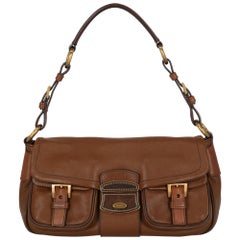 Prada  Women   Shoulder bags  Brown Leather