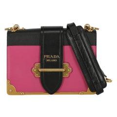 Prada  Women   Shoulder bags  Cahier Navy, Pink Leather