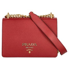 Prada  Women   Shoulder bags   Red Leather