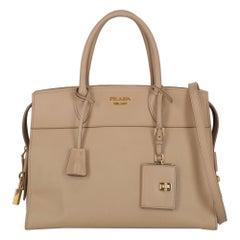 Prada Women's Handbag Esplanade Beige Leather