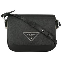Prada Women's Shoulder Bag Black Leather