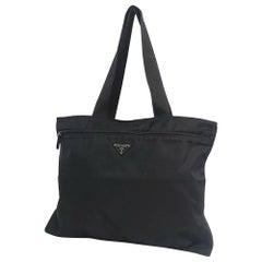 PRADA Womens tote bag black