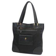 PRADA Womens tote bag black x gold hardware