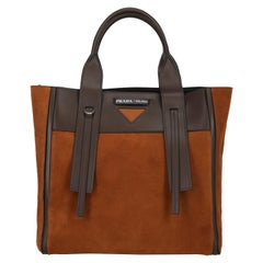 Prada Women's Tote Bag Brown Leather