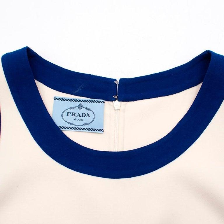 Prada wool blend shift dress US 4 For Sale 3