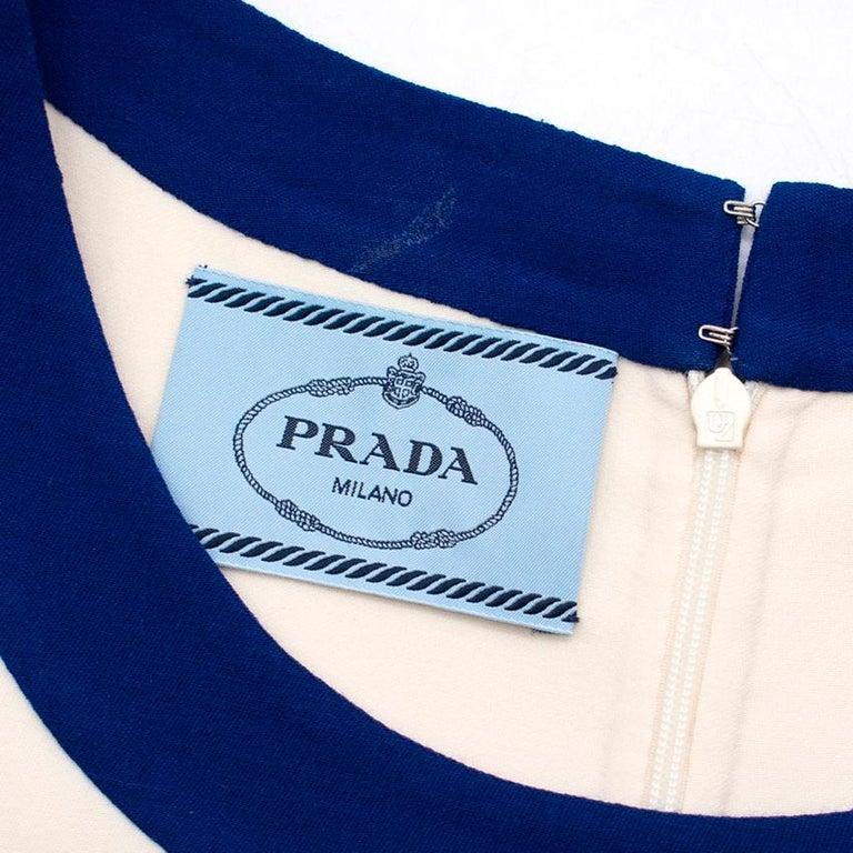 Prada wool blend shift dress US 4 For Sale 4