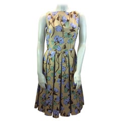 Prada Yellow Floral Dress