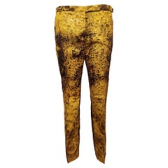Prada Yellow Floral Silk Pants IT46 /US 10-12