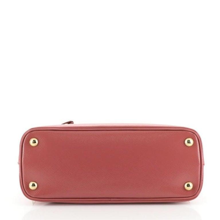Women's or Men's Prada Zip Around Convertible Dome Satchel Vernice Saffiano Leather North  For Sale
