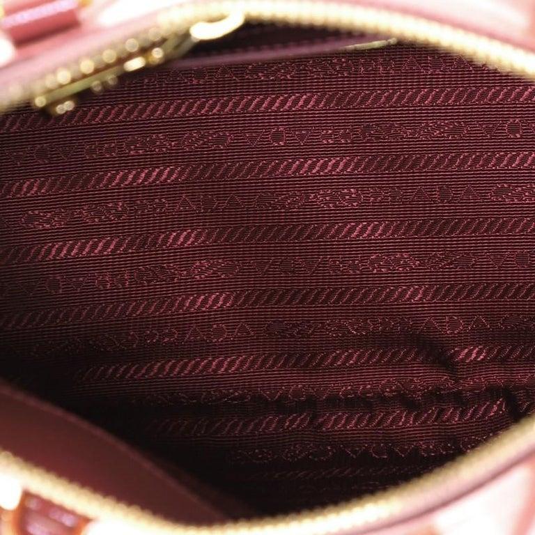 Prada Zip Around Convertible Dome Satchel Vernice Saffiano Leather North  For Sale 1