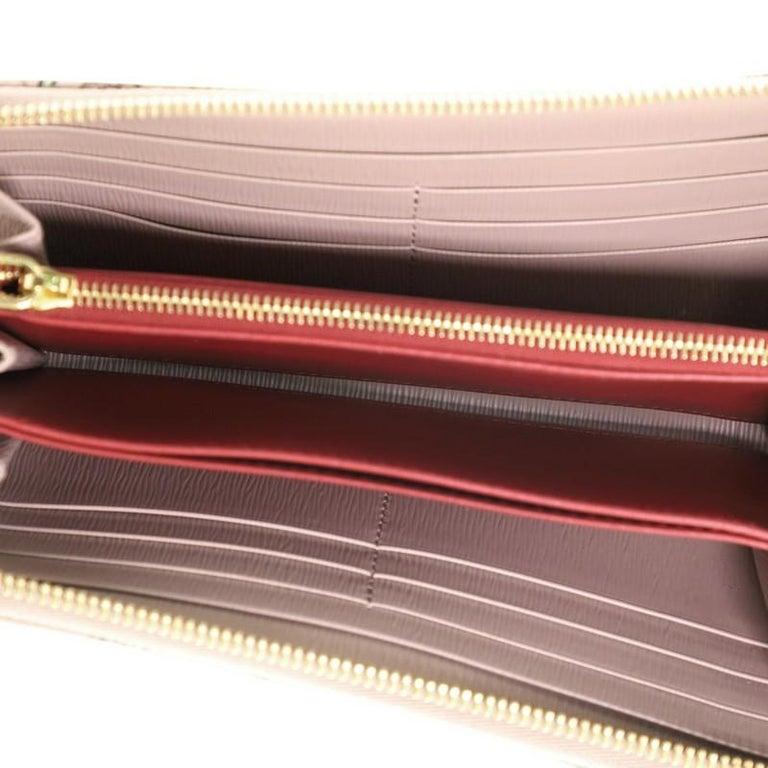 Prada Zip Around Wallet Printed Saffiano Long For Sale 1
