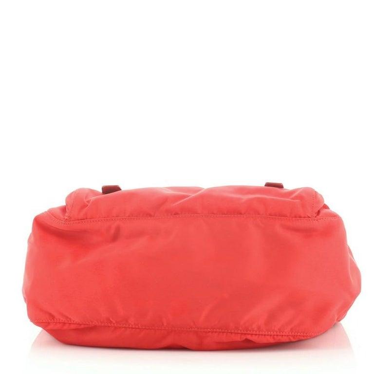 Women's Prada Zip Buckle Messenger Bag Tessuto Medium For Sale