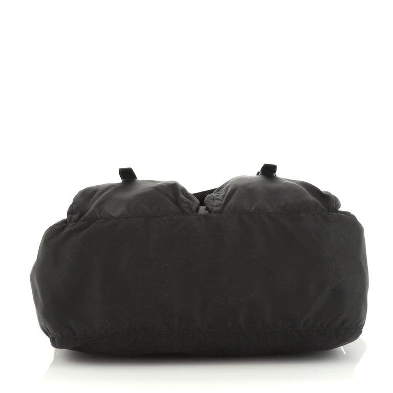 Women's or Men's Prada Zip Buckle Messenger Bag Tessuto Medium For Sale