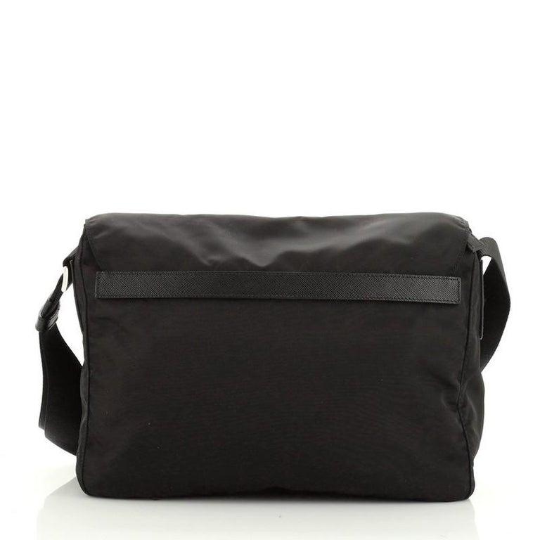 Women's or Men's Prada Zip Buckle Messenger Bag Tessuto Medium