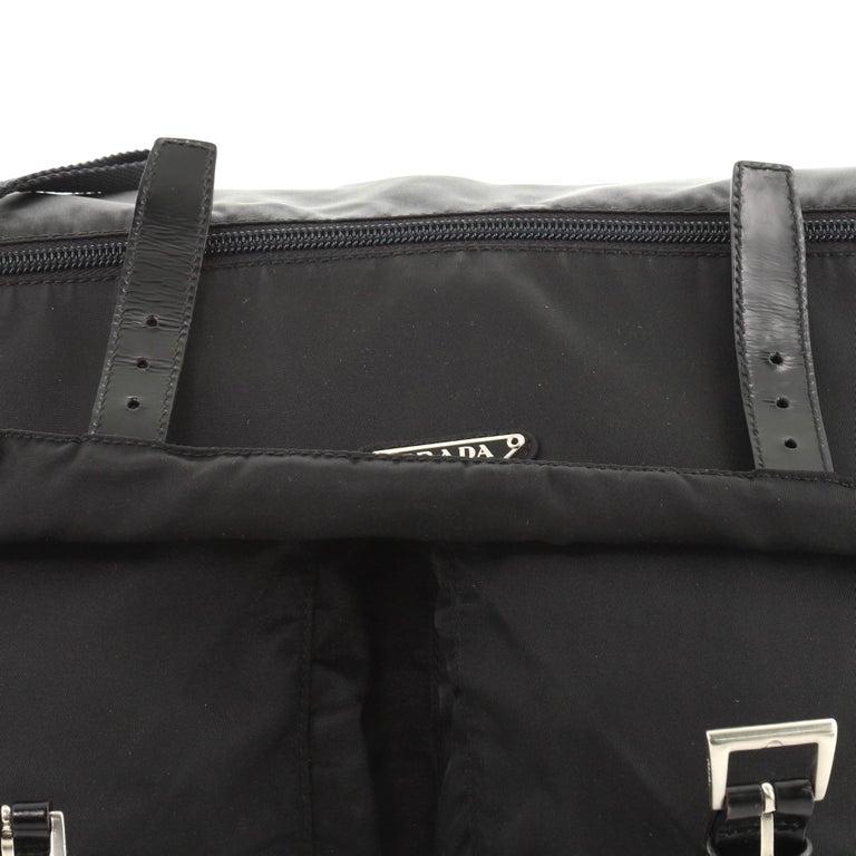 Prada Zip Buckle Messenger Bag Tessuto Medium For Sale 1