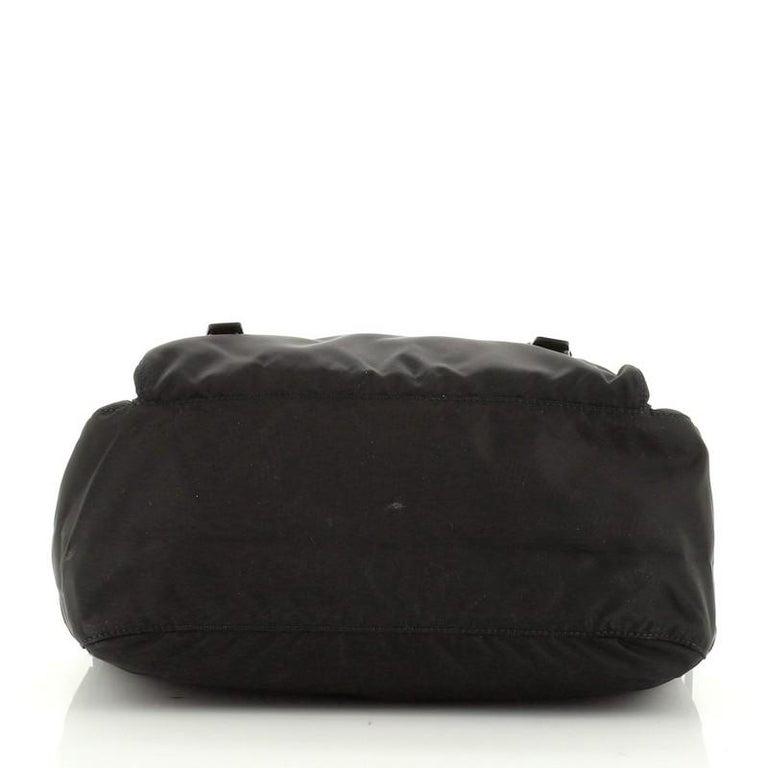 Prada Zip Buckle Messenger Bag Tessuto Medium 1