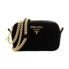 Prada Zip Crossbody Bag Velvet Small