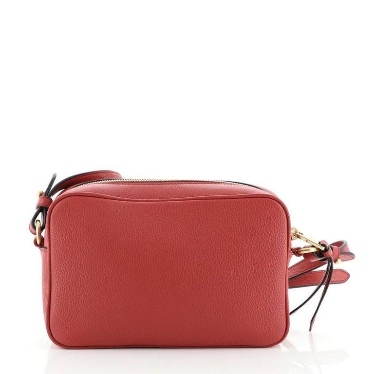 Prada Zip Crossbody Bag Vitello Daino Small In Good Condition For Sale In New York, NY