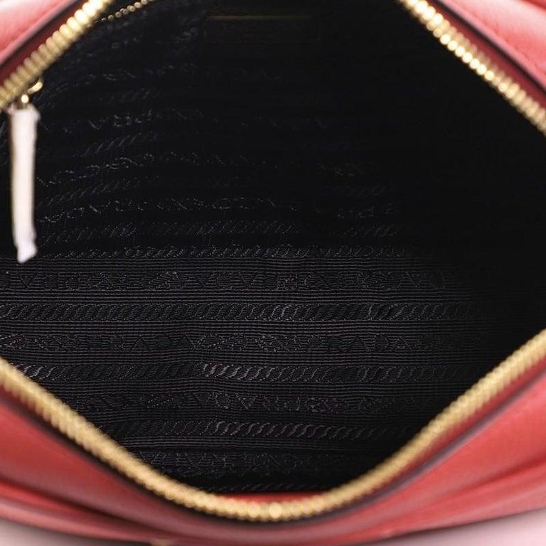 Prada Zip Crossbody Bag Vitello Daino Small For Sale 1