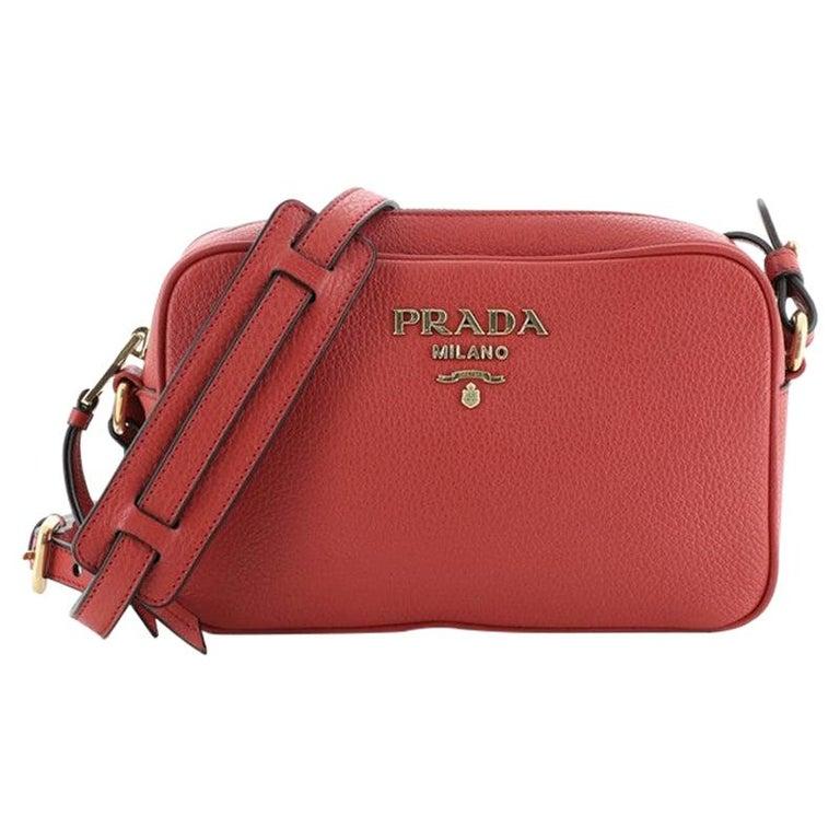 Prada Zip Crossbody Bag Vitello Daino Small For Sale