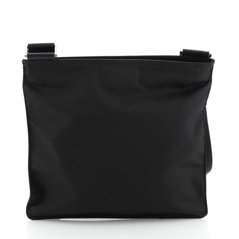 Women's or Men's Prada Zip Messenger Bag Tessuto Medium For Sale