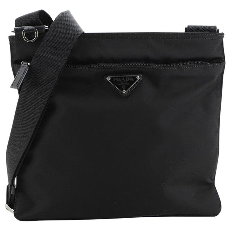 Prada Zip Messenger Bag Tessuto Medium For Sale