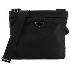 Prada Zip Messenger Bag Tessuto Medium