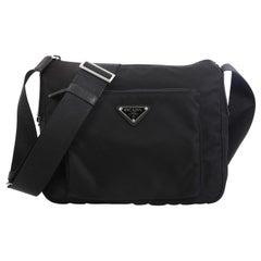 Prada Zip Messenger Bag Tessuto Small