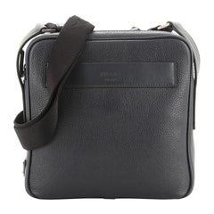 Prada Zip Messenger Bag Vitello Daino Medium
